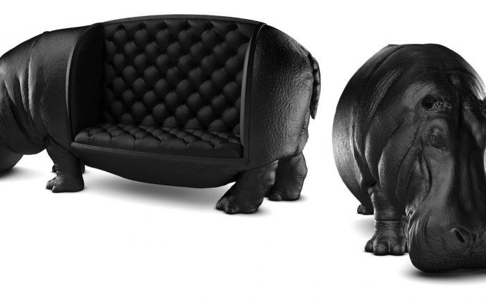 Домашний зоопарк: кожаная мебель в форме животных | Интерьер
